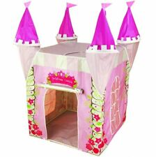 Pink Princess Castle Pop Up Tent Uv Shelter Play Toy Girls Wendy House Playhouse