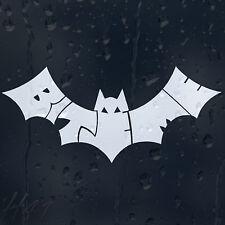 White Bite Me Bat Funny Car Or Laptop Decal Vinyl Sticker Colour Choice
