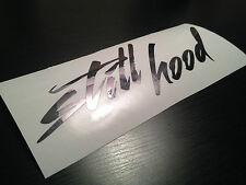 "8"" Still Hood Gun Metal Sticker Vinyl Decal Camber Dapper Stance Drift JDM Euro"