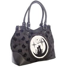 Banned Tasche Henkeltasche Wishbone Bag Occult Cat Mieze Schwarz Gothic #3152188