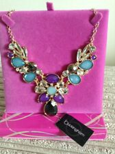 BRIDAL/BRIDESMAID/MOTHER OF THE BRIDE  GOLD TONE & COLOURED STONE NECKLACE