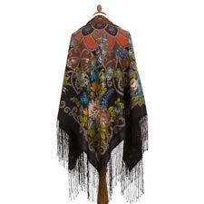 X Large Russian Pavlovo Posad Shawl 148x148cm Wool 362-27 BN Gypsy Aza