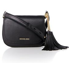 Michael Kors bolsa bandolera/Elyse MD Saddle Bag, Leather Black nuevo!