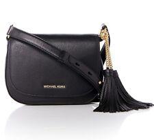 Michael Kors Tasche/Umhängetasche Elyse MD Saddle Bag,Leather Black NEU!