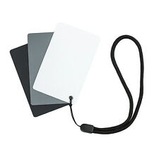 UK Tienda! JJC GC-2 tamaño de bolsillo 3 en 1 Balance de Blancos Tarjetas Gris Blanco/Negro/Gris