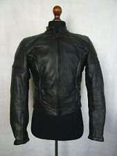 Men's vintage en cuir cafe racer moto veste de motard 38R (S)
