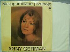 ANNY GERMAN - Niezapomniane Przeboje Unforgettable Hits Muze Poland LP Washed Ex