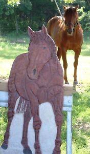 "ORIGINAL STONE SCULPTURE HORSE FIREPLACE ART Insert-Ready AQHA ""TERRIBLE DUDE"""