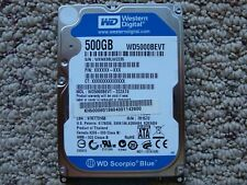 "Western Digital Scorpio Blue 500GB 2.5"" (WD5000BEVT) 22ZATO HDD Hard Drive"