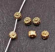 100Pcs Tibetan Silver TIBETAN DAISY FLOWER Spacer Beads Charm Findings 5MM A3115