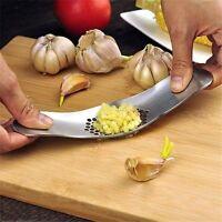 Knoblauchpresse Schleifen Reibe Slicer Cutter Küchenwerkzeug Edelstahl*ZP