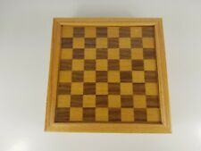 7 In 1 Wooden Board Game Set, Cards Dice Chess Checkers Backgammon Cribbage