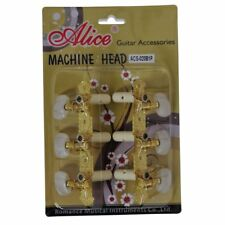 Alice AOS-020B1P Pearl Machine Head Guitar Tuning Pegs Set Ratio 1:14 Parts Sale