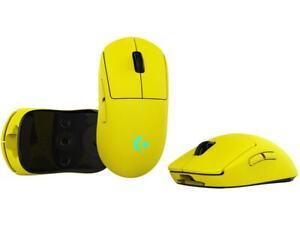 Yellow Logitech G Pro Wireless OP Cyberpunk 2077 Yellow Pixel Lime Gaming Mouse