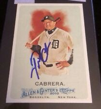 MIGUEL CABRERA 2010 TOPPS ALLEN GINTERS Autographed Signed Baseball Card JSA 139