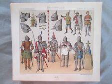 Vintage Print,DE GUERRE DE 1350-1460,Costume,Historique,1888,Racinet