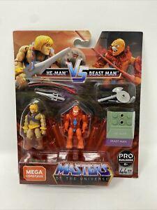 Mega Construx MASTERS OF THE UNIVERSE Heroes He-Man vs Beast Man, 2 Figurines