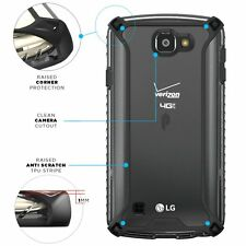For LG K4 / LG Optimus Zone 3 / LG Spree Case Black Poetic【Affinity】Thin Bumper
