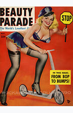Pin Up Girl Poster 11x17 Beauty Parade magazine cover art Police officer