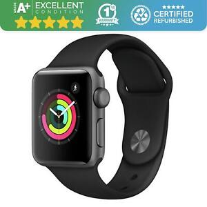 Apple Watch Series 3 42mm GPS Space Grey with Black Sports Band Retail Boxed