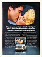 1979 Panasonic VHS Video Recorder TV Vintage Advertisement Print Art Ad J103