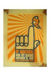Of Montreal Poster Silkscreen Jaime Cervantes Austin 2008