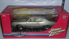 1/18 JOHNNY LIGHTNING MUSCLE CAR 1970 CHEVROLET CHEVELLE SILVER with BLACK bd