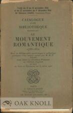 Maurice Escoffier / MOUVEMENT ROMANTIQUE 1788-1850 ESSAI DE BIBLIOGRAPHIE 1934