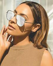 Quay Australia High Key Desi Perkins Silver Authentic Women Sunglasses