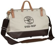 Klein Tools 18 in. Deluxe Canvas Tool Storage Bag Adjustable Shoulder Strap