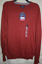 NWT Croft & Barrow long sleeve Sweater Crew Rust Super Soft XLT Cotton Syn