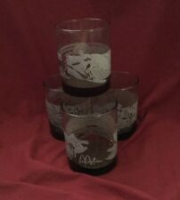 Vintage McDonald's Hawaii Drinking Glasses, Set 4 Libby's, Surfing, Tiki