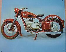 Älteres Blechschild  Motorrad MZ BK 350  Werbung gebraucht used