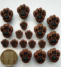PAW PRINTS Craft Buttons 1ST CLASS POST Animal Dog Cat Nature Fun DRESS IT UP