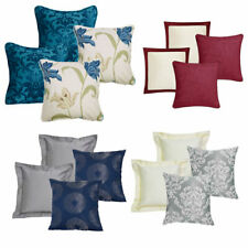 Assorted Cushion Sets, Cotton, Faux Silk, Polyester - 4 PACK FILLED CUSHIONS
