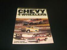 1977 Chevy Truck 4 wheelers Color Sales Brochure 4 wheel Drive Blazer Pickup Sub