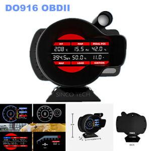 DO916 OBDII Car SUV Tacho Speed Meter RPM Water Temperature Volt Digital Display
