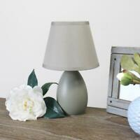 Oval Ceramic Table Lamp 9.4 in. Mini Egg Gray Simple Designs
