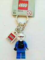 GENUINE LEGO MR FREEZE FROM BATMAN MINIFIGURE KEYRING KEYCHAIN (GREY TAG) RARE