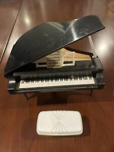 Barbie Furniture 1:6 Scale Grand Piano Black  #0953 Missing Pieces Read