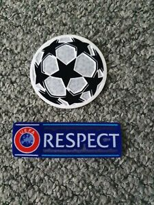 Brand New Champions League Patch And Respect Football Shirt Soccer Badge