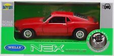 WELLY 1970 FORD MUSTANG BOSS 302 RED 1:34 DIE CAST METAL MODEL NEW IN BOX