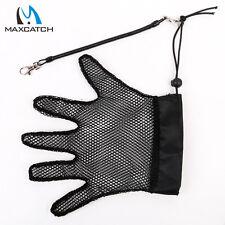 Fishing Glove Polyester Anti-Slip Net Mesh Fly Fishing Gloves&Retractable zipper