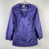 Chico's Zenergy Size Medium 8 1 Purple Lightweight Zip Up Jacket With Pockets