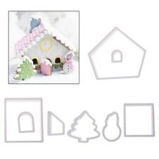 8 Pcs Christmas House Biscuit Pastry Cookie Cutters Cake Decor Baking Mould Tool