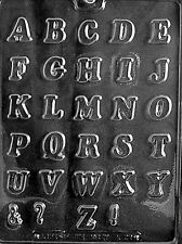 """LETTERS A THRU Z 1"""" CHOCOLATE CANDY MOLD PARTY FAVORS DIY CUPCAKE TOPPERS LOP"""
