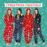 1Onesie Ladies All In One Soft Christmas Jumpsuit Playsuit Hooded Fleece XS-XL