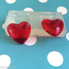 SILICONE HEART CABOCHON- 25mm Resin Jewellery Making Mold Jewelry Shape