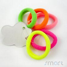 10pcs Neon Colors Girls Toddler Kids Elastic Hair Bands Bobbles Bows Boutique