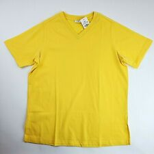 Cato T-Shirt Women's Size XLarge Yellow Short Sleeve V-Neck Top Style #1872 NEW